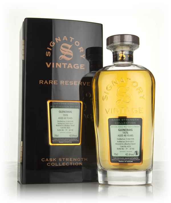Glencraig 40 Year Old 1976 (cask 4253) - Cask Strength Collection Rare Reserve (Signatory)