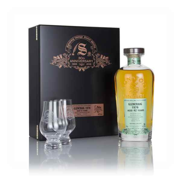 Glencraig 42 Year Old 1976 (cask 4283) - 30th Anniversary Gift Box (Signatory)