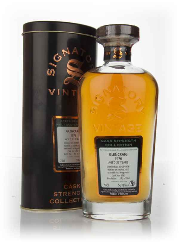Glencraig 33 Year Old 1976 - Cask Strength Collection (Signatory)