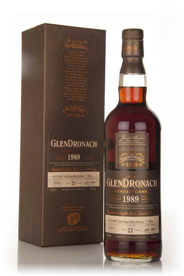GlenDronach 20 Year Old 1989 - PX Sherry Puncheon