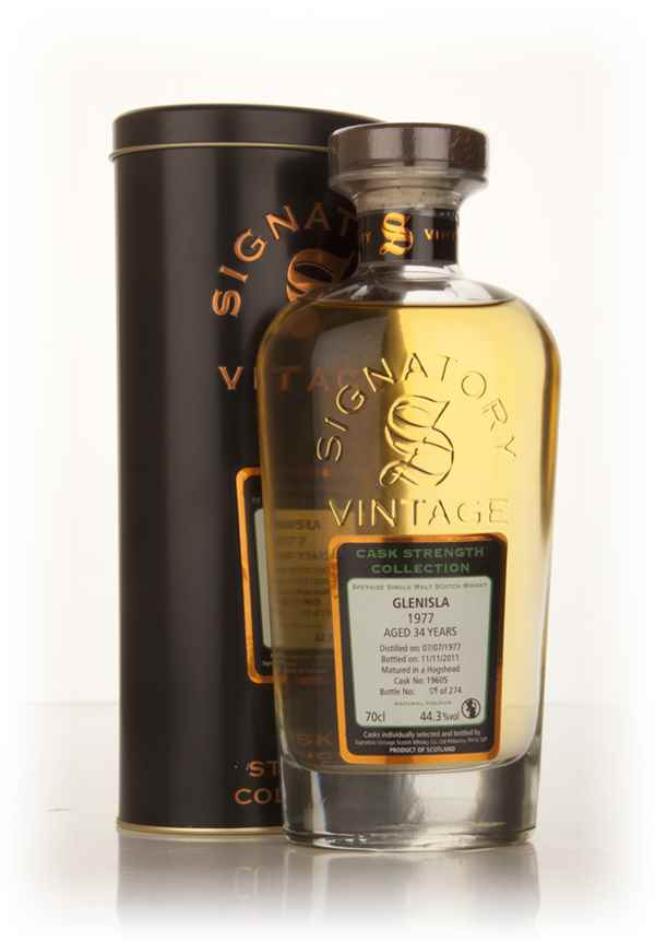 Glenisla 34 Year Old 1977 (cask 19605) - Cask Strength Collection (Signatory)