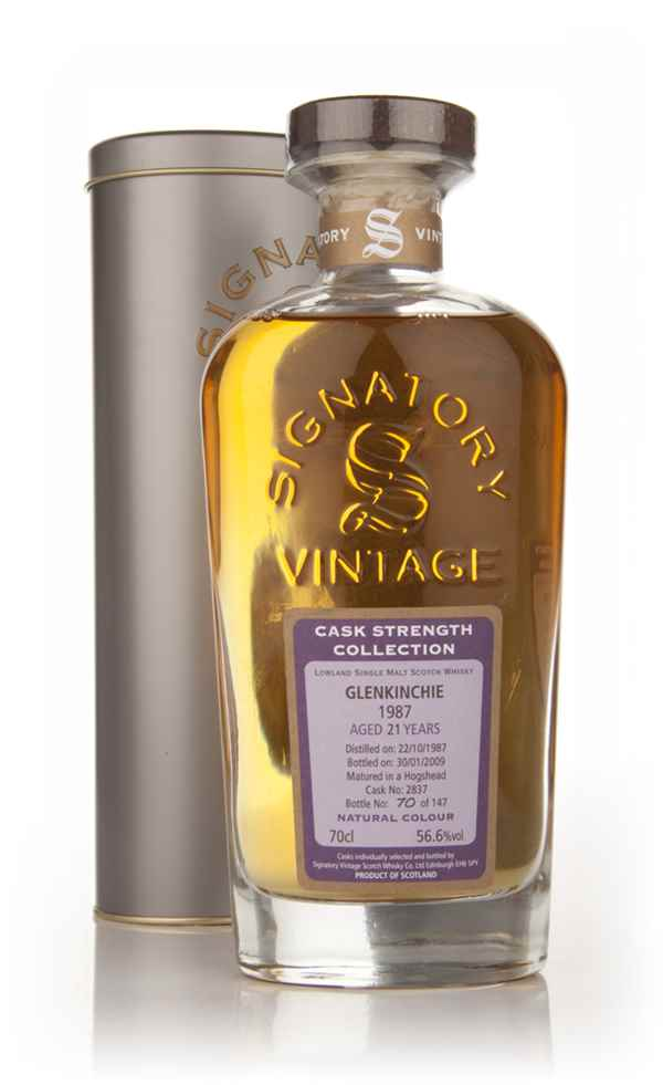Glenkinchie 21 Year Old 1987 - Cask Strength Collection (Signatory)