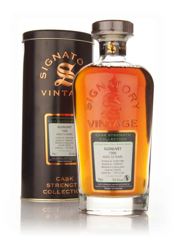 Glenlivet 14 Year Old 1996 Cask 105516 - Cask Strength Collection (Signatory)