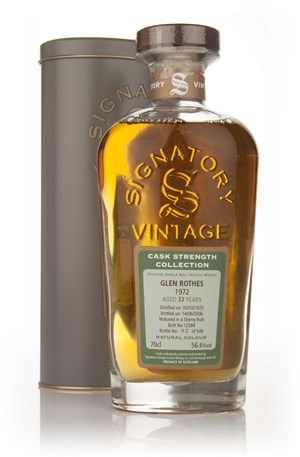 Glenrothes 33 Year Old 1972 - Cask Strength Collection (Signatory)