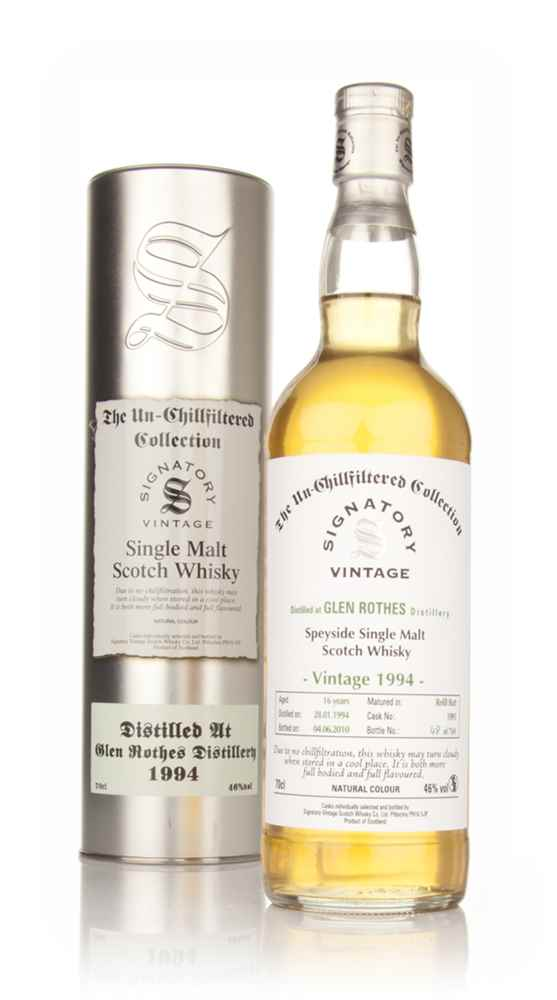 Glenrothes 16 Year Old 1994 - Un-Chillfiltered (Signatory)