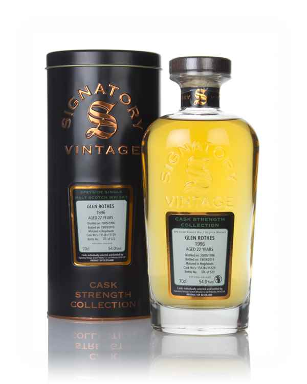 Glenrothes 22 Year Old 1996 (cask 15128 & 15129) - Cask Strength Collection (Signatory)
