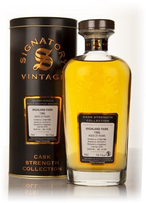 Highland Park 25 Year Old 1986 Cask 2279 - Cask Strength Collection (Signatory)