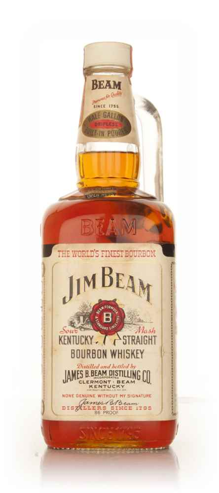 Jim Beam White Label 43% 1.9l  - late 1960s