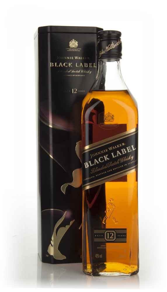 Johnnie Walker Black Label 12 Year Old in tin