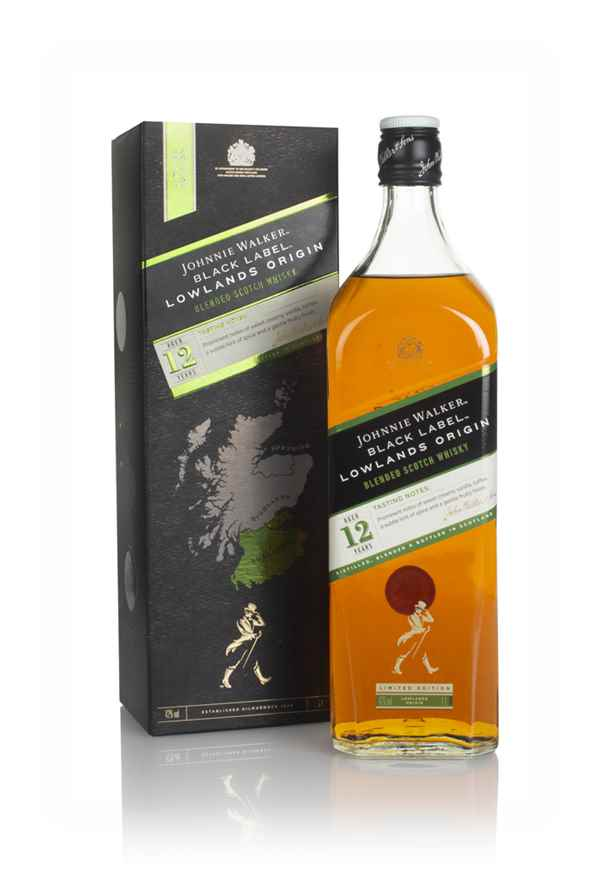 Johnnie Walker Black Label 12 Year Old Lowlands Origin