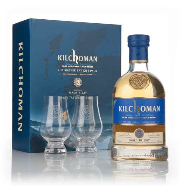 Kilchoman Machir Bay 2014 Release Gift Pack with 2x Glasses