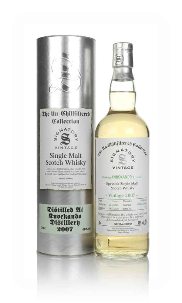 Knockando 12 Year Old 2007 (casks 304094 & 304096) - Un-Chillfiltered Collection (Signatory)