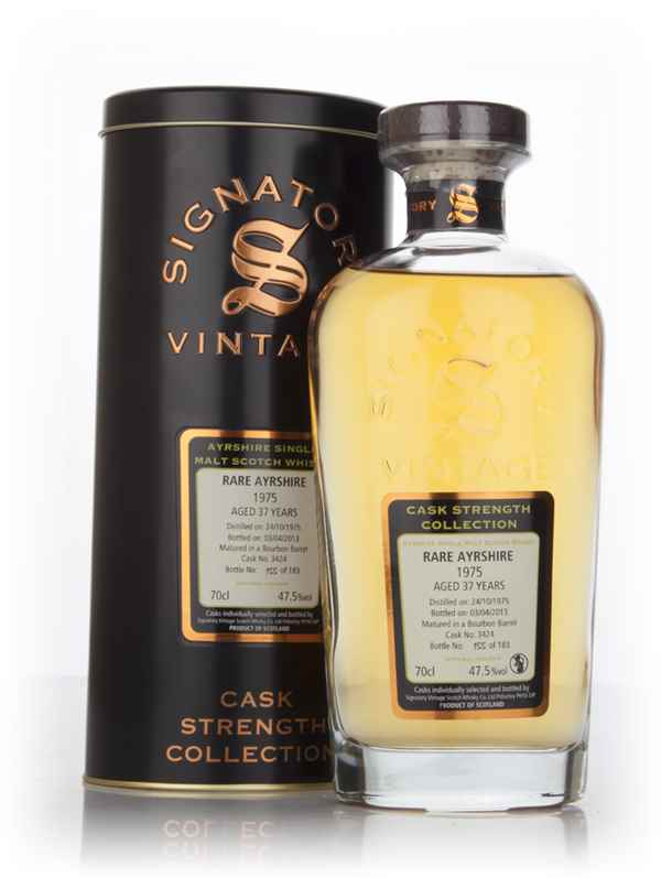 Rare Ayrshire 37 Year Old 1975 (cask 3424) - Cask Strength Collection (Signatory)