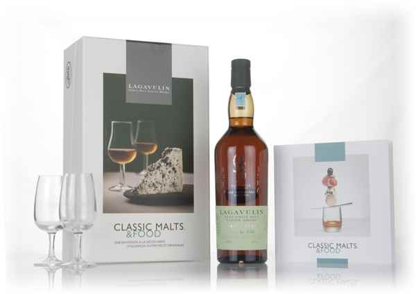 Lagavulin 2000 (bottled 2016) Distillers Edition - Classic Malts & Food Gift Set with 2x Glasses