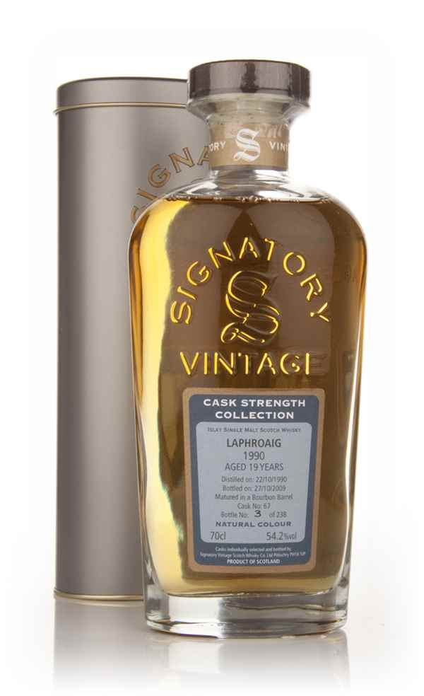 Laphroaig 19 Year Old 1990 Cask 67 - Cask Strength Collection (Signatory)