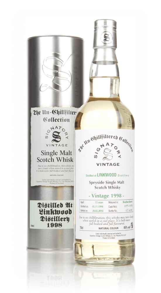Linkwood 15 Year Old 1998 (casks 11777+11778) - Un-Chillfiltered (Signatory)