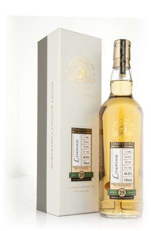Linkwood 25 Year Old 1986 Cask 991104 - Dimensions (Duncan Taylor)