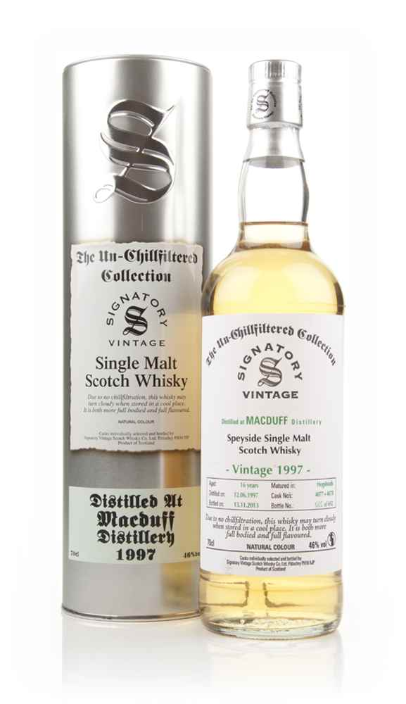 Macduff 16 Year Old 1997 (casks 4077+4078) - Un-Chillfiltered (Signatory)