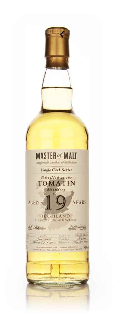 Tomatin 19 Year Old - Single Cask (Master of Malt)