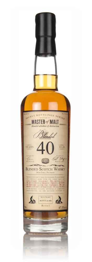 Master of Malt 40 Year Old Blended Scotch Whisky