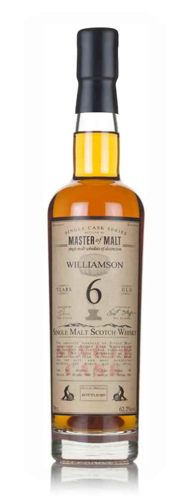 Williamson 6 Year Old 2009 - Single Cask (Master of Malt)