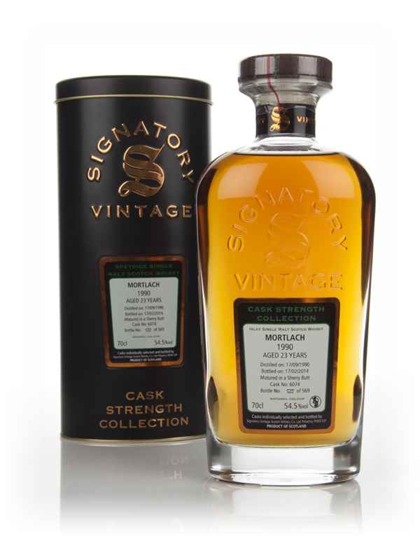 Mortlach 23 Year Old 1990 (cask 6074) - Cask Strength Collection (Signatory)