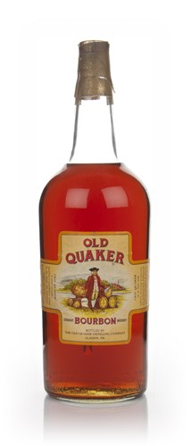 Old Quaker 4 Year Old Straight Bourbon Whiskey - 1950s
