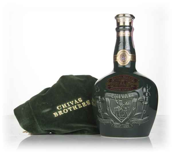Royal Salute 21 Year Old Emerald Flagon (with Velvet Bag) - post 1999