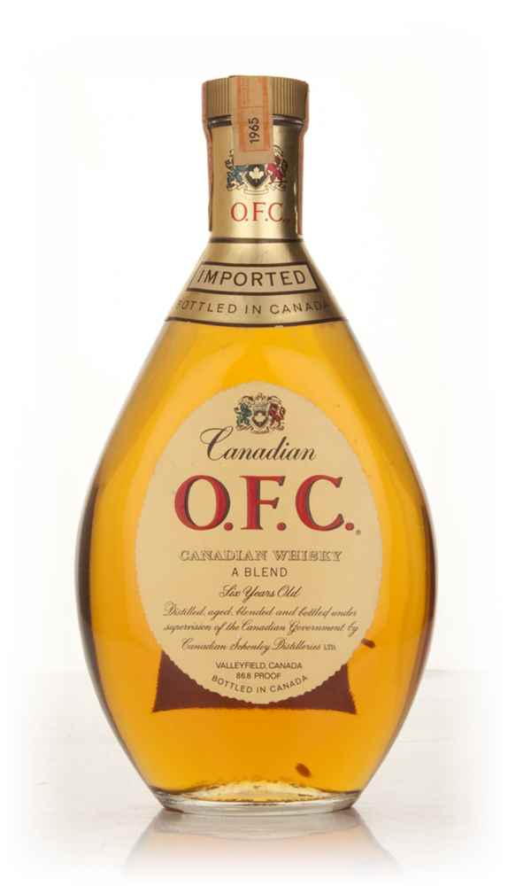 Schenley O.F.C. 6 Year Old Canadian Whisky - 1965