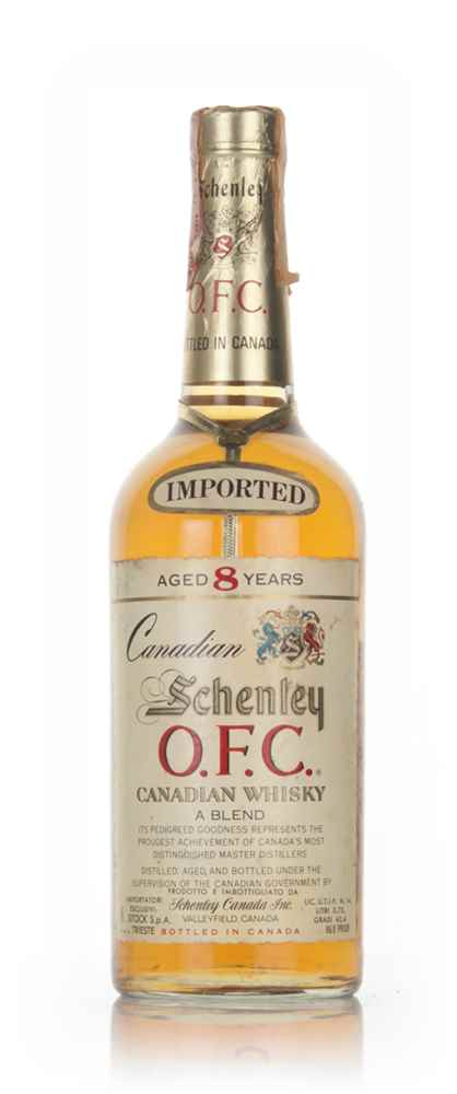 Schenley O.F.C. 8 Year Old Canadian Whisky - 1981