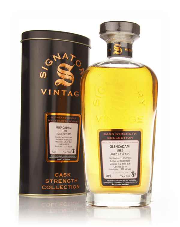 Glencadam 20 Year Old 1989 Cask 6019 - Cask Strength Collection (Signatory)