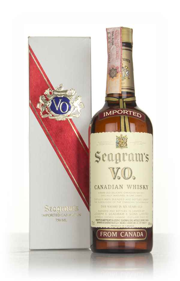 Seagram's V.O. 6 Year Old Canadian Whisky (Boxed) - 1980