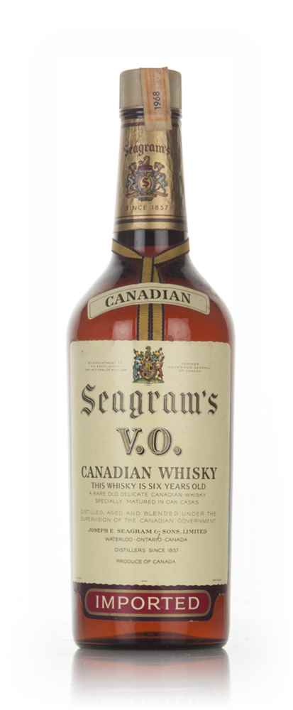 Seagram's V.O. 6 Year Old Canadian Whisky - 1968