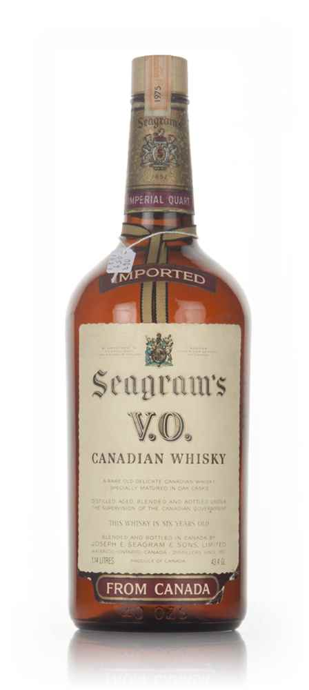 Seagram's V.O. Canadian Whisky (1.14L) - 1975
