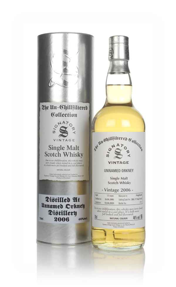 Unnamed Orkney 13 Year Old 2006 (casks 17/A62 9 & 10) - Un-Chillfiltered Collection (Signatory)