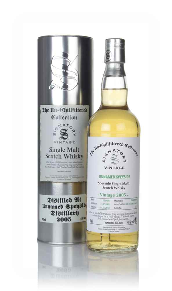 Unnamed Speyside 12 Year Old 2005 (casks 17/A106 61+62) - Un-Chillfiltered Collection (Signatory)
