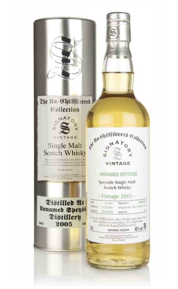 Unnamed Speyside 12 Year Old 2005 - Un-Chillfiltered Collection (Signatory)