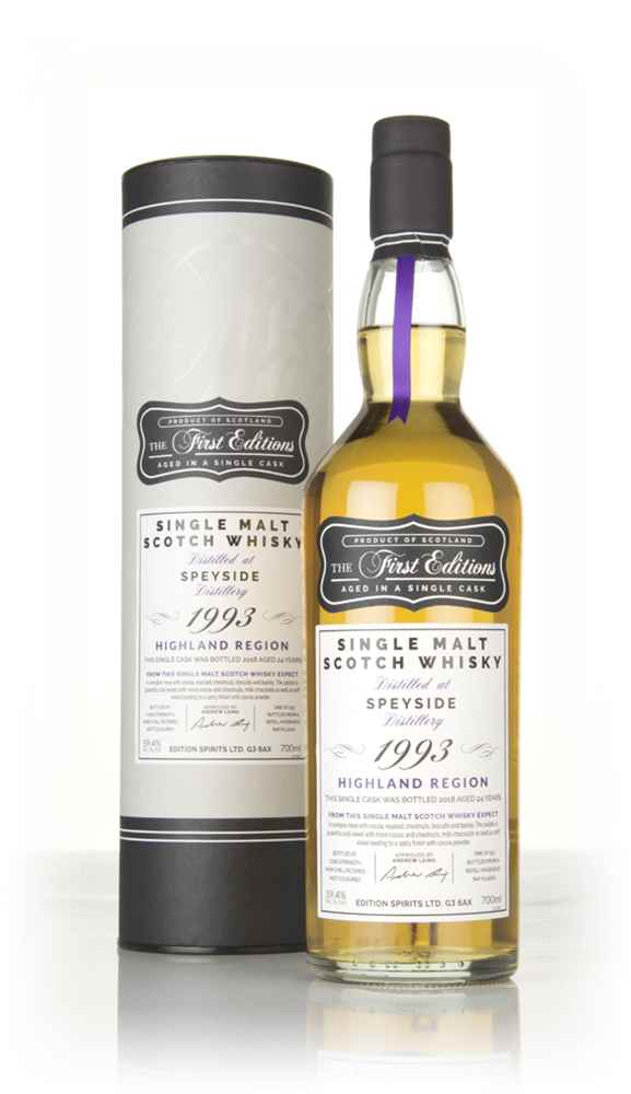 Speyside 24 Year Old 1993 (cask 15001) - The First Editions (Hunter Laing)
