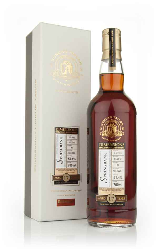 Springbank 17 Year Old 1995 - Dimensions (Duncan Taylor)