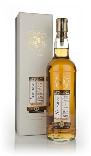 Springbank 18 Year Old 1993 - Dimensions (Douglas Laing)