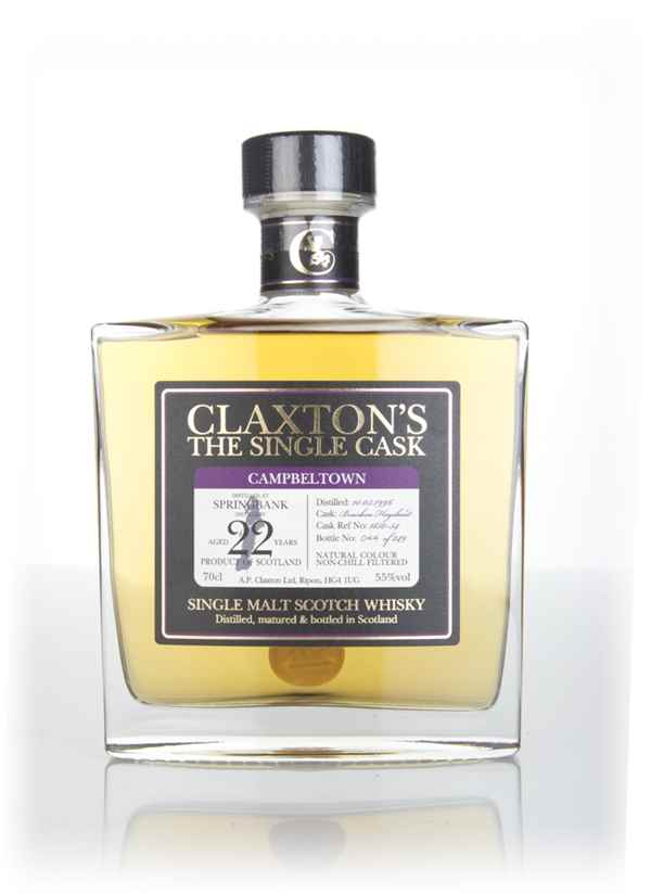 Springbank 22 Year Old 1996 (cask #1850-54) - Claxton's