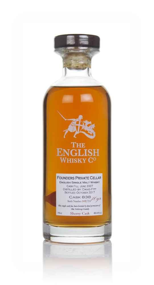 English Whisky Co. Founders Private Cellar 10 Year Old 2007 (cask 838)