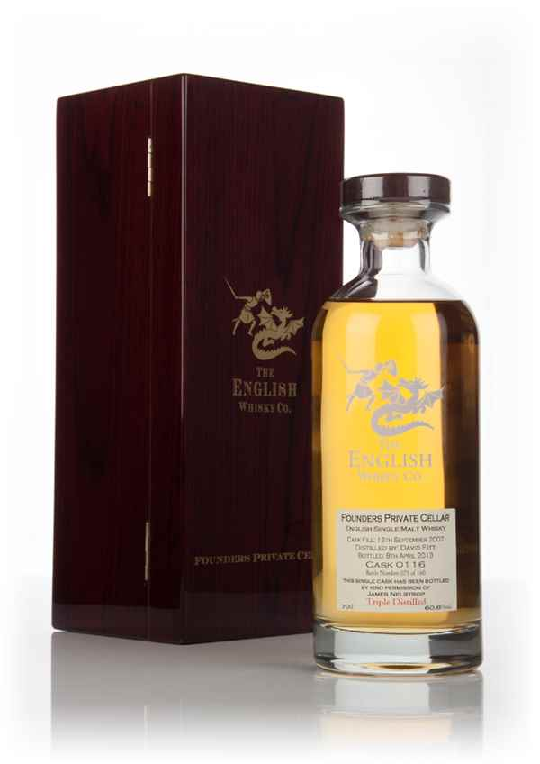 English Whisky Co. Founders Private Cellar - Triple Distilled (Bourbon Cask #0116)