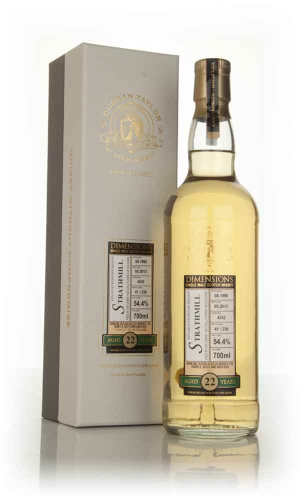 Strathmill 22 Year Old 1990 (cask 4242) - Dimensions (Duncan Taylor)