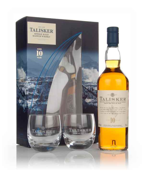 Talisker 10 Year Old Gift Pack with 2x Glasses