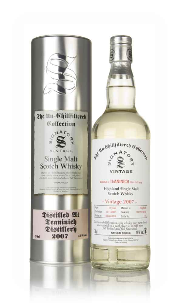 Teaninich 10 Year Old 2007 (casks 702719 & 702720) - Un-Chillfiltered Collection (Signatory)