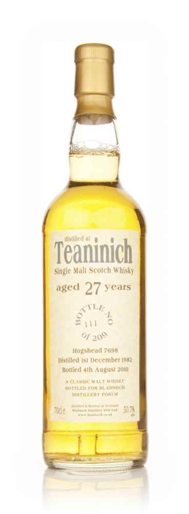 Teaninich 27 Year Old 1982 (Bladnoch)