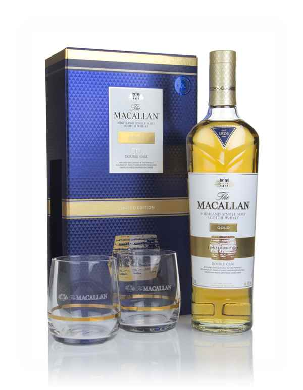The Macallan Gold Double Cask Gift Pack with 2x Glasses