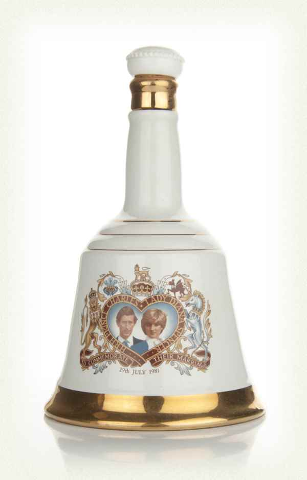Bell's Prince Charles and Lady Diana Spencer 1981 Decanter
