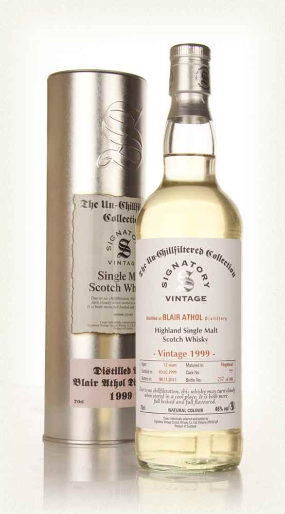 Blair Athol 12 Year Old 1999 - Un-Chillfiltered (Signatory)